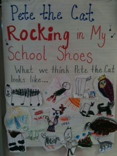 Cute anchor chart idea- teaching about mental images with Pete the Cat