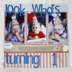 1st Birthday Scrapbook Page