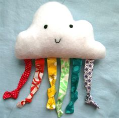DIY happy cloud baby toy tutorial, from refabulous