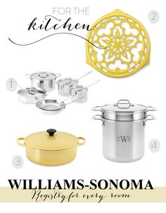 Wedding Registries from Williams-Sonoma + $5000 Dream Registry Sweepstakes!