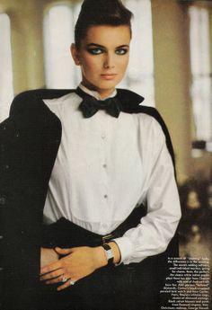 Vogue US, April 1983Photographer: Michel Comte Model: Paulina Porizkova