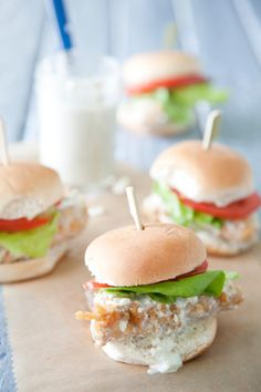 Paula Deen Buffalo Chicken Sliders