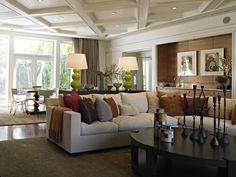 decor, comfy couches, hous beauti, ceilings, garden televis, stage idea, light, design