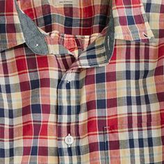 Indian cotton shirt in Weybridge plaid $69.50