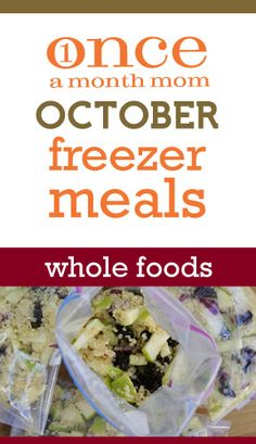 Freezer cooking menu for those wanting to make everything from scratch with no processed foods. Recipe cards, grocery lists, instructions and more.