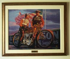 Harley Davidson 100th Anniversary Items | 100th Anniversary Harley Davidson Print - Great Doings - Harley ...