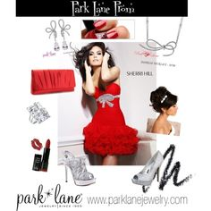 Park Lane Jewelry featured: Danielle necklace & earrings and Wow ring    Park Lane Prom, created by parklanejewelry parklanejewelry