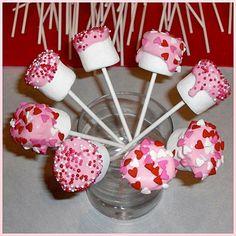 valentine day ideas, valentine treats, food, marshmallow pops, goodie bags, marshmallows, marshmallow treats, kid, parti