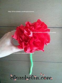 Flor de papel crepé express