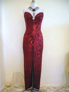 Vintage showgirl dress