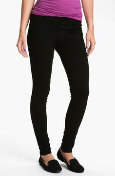 Jolt Ponte Knit Skinny Pants (Juniors) available at #Nordstrom