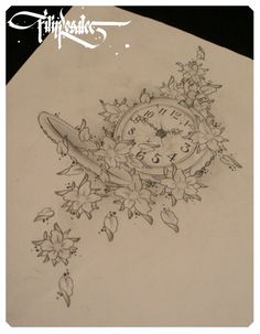 Tattoo #4: Pocket Watch combined with Quote. Placement: Lower Back (left) Ink | tattoos picture tattoo sketches