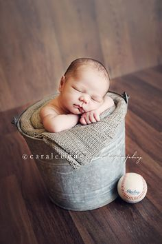 baseball pictures, babies photography, baby boy pictures, newborn pic, bucket, baby boys, babi boy, newborn poses, little boys