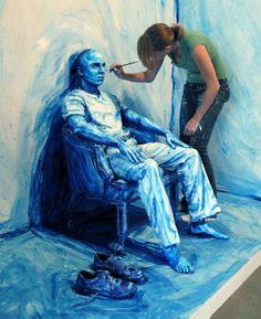 Le travail d'Alexa Meade est tout simplement époustouflant, c'est un de mes plus beaux coups de coeur depuis très longtemps.  L'esthétique, la poésie, la technique … tout est présent dans ce travail alliant peinture, body-painting et photographie.