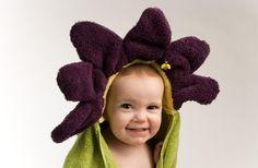 PERSONALIZED Light Purple Flower Hooded Towel