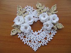 Irish Crochet Heart Ornament by Annie Potter by Nik_OC, via Flickr