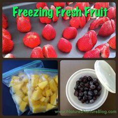 How to Freeze Fresh Fruit