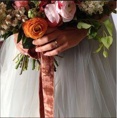 Velvet ribbon | florals by amy osaba