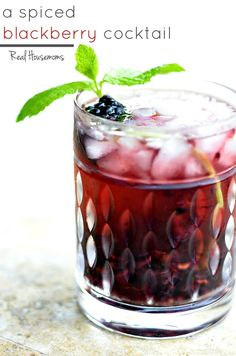 A Spiced Blackberry Cocktail | Real Housemoms | This is the ultimate in summer cocktails with rum and fresh berries!!!