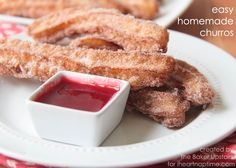 Easy Homemade Churros I Heart Nap Time | I Heart Nap Time - Easy recipes, DIY crafts, Homemaking
