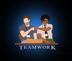 IT Crowd Teamwork - Wallpaper by surlana