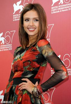 Jessica Alba #hair #hairstyle #makeup #actress ~ shes so pretty !