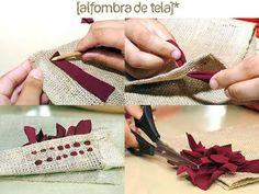 alfombra con arpillera y trapillo