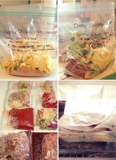 Freezer to Crock Pot Meal Ideas #prepday