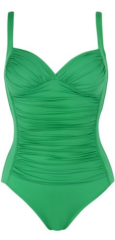 cute emerald green swimsuit that will look good on everyone - this sculpts your tummy