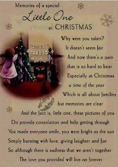 my first christmas in heaven poem pdf