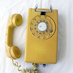 The rotary phone--we really stretched the cord to get some privacy.