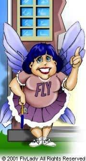 FLYlady = Finally Loving Yourself.  Home cleaning and management tips.