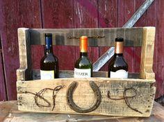 Reclaimed Wood Western Wine Rack