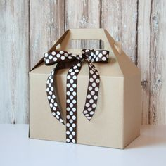 Gable Boxes - Large Kraft - Set of 6