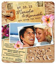 Super fun Save the Date magnet... Beach wedding magnet!