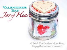 jar of hearts- write kind notes to someone special