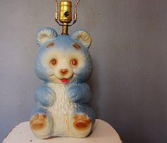 Vintage Teddy Bear Lamp for kid's bedroom or baby nursery.