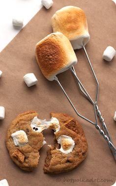 S'mores Cookies via @Lindsey {Hot Polka Dot}