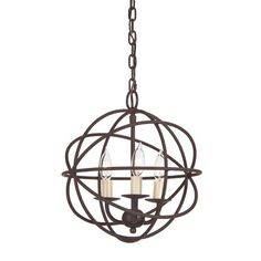 JVI Designs Globe 3 Light Chandelier