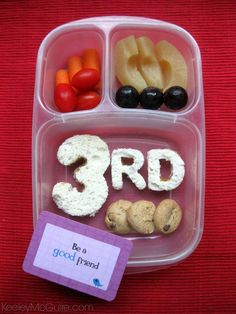 Keeley McGuire: Lunch Made Easy: First Day of Third Grade! #BackToSchool