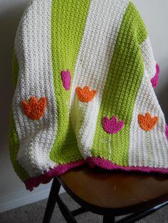 Crochet Tulip Baby Blanket