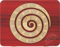 spiral cribbage board