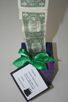 Fun way to give cash as a gift!