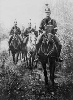 Swiss soldiers on patrol during the beginning months of the Great War, 1914