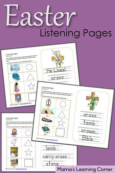 Download a set of Easter Listening Pages to help your little one stay engaged in the Worship Service!