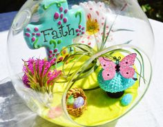 Faith Springtime Garden Terrarium  Faith by BeachCottageBoutique, $48.00