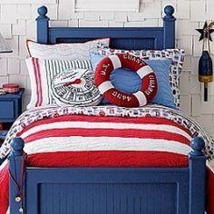 Nautical bedroom - getting ideas for @Preston Javorka