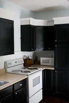 kitchen trim above cabinets