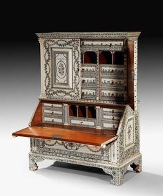 1:12th scale miniature secretary desk