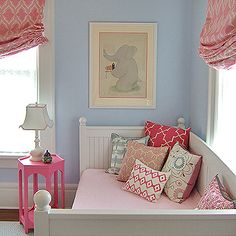 blue and pink girls room